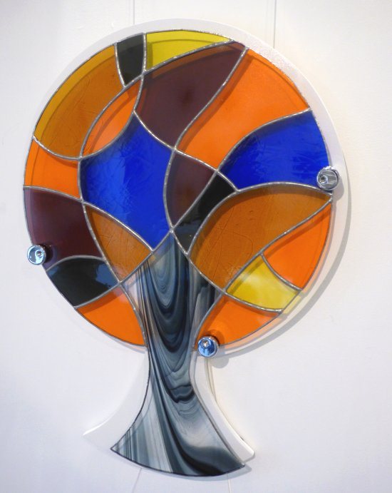 Lollipop colouyrful stained glass tree by Vitreus Art