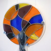 Lollipop Tree - stained glass for your wall