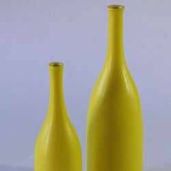 Lucy Burley - brightly coloured ceramic vases and bottles