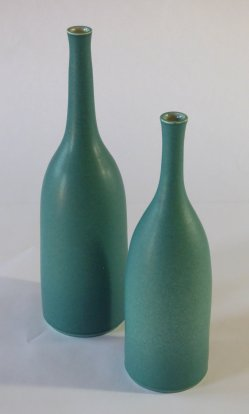 Lucy Burley - glazed vases and bottles in a range of colours