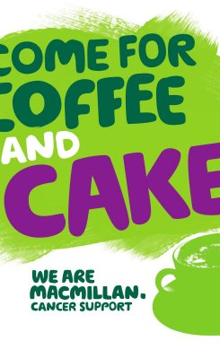 Join us for coffee and cake in aid of Macmillan Cancer Support on Friday 27th September at Vitreus Art