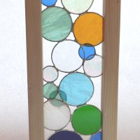 Mumbles - window hanging stained glass by Vitreus Art