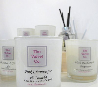 Velvet Co hand poured scented candles at V