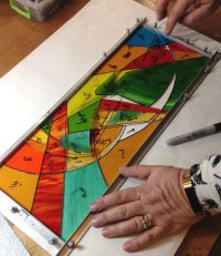 stained glass evening courses with Vitreus Art