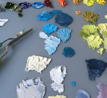Learn the basics of oil painting colour mixing and paint handling
