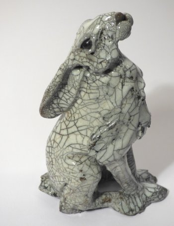 New raku cermics by Richard Ballantyne - Standin Hare
