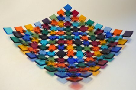 Roger Loxton makes these beautiful fused glass dishes