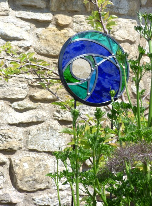Garden Stained Glass panels by Vitreus Art