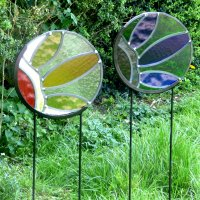 Round Garden Glass Stakes by Vitreus Art - buy onine or in person at Vitreus Art Gallery