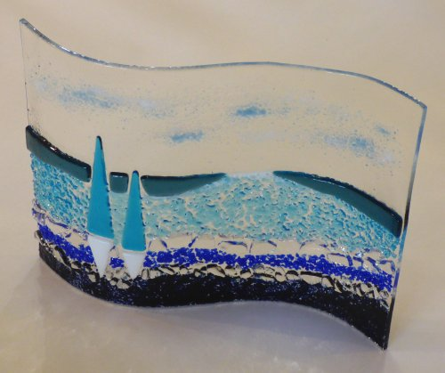 Fused glass by Vitreus Art - Sail Away