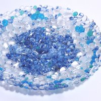 Sparkle Pebble Fused Glass bowls by Vitreus Art - on sale now at the gallery or online