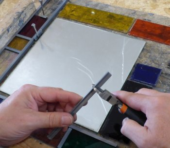 USing lead cames to make your coloured mirror