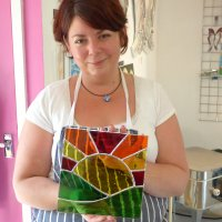 Stained glass fliling classes with Vitreus Art - follow the link for more info