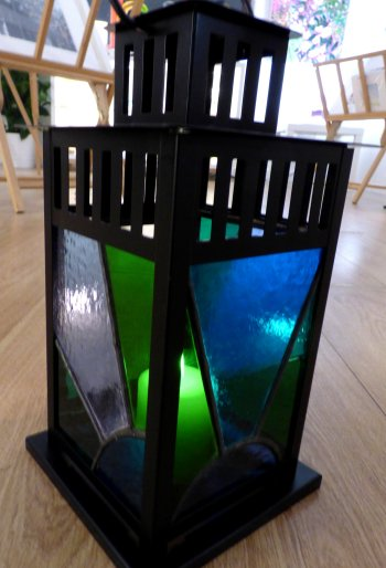 Vitreus Art beginners stained glass Lantern class