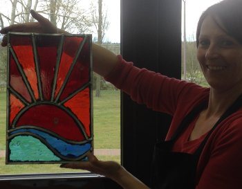 Stained glass evening course with Vitreus Art - choose leading or foiling on this course