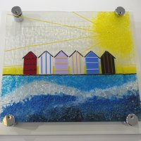 Summers Here - fused glass art by Vitreus Art