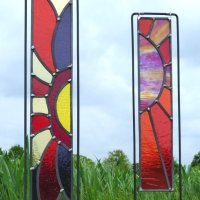 Flower Garden - outdoor stained glass art