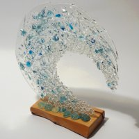 Tempest Fused Glass Art - Click to view