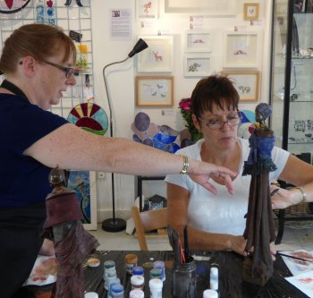 Learn to make textile sculptures with Liz Dixon