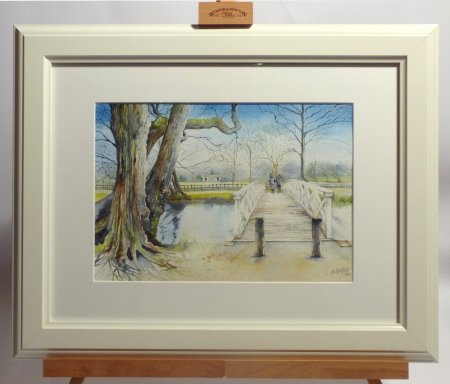 Val Goldfinch original framed watercoloyrs available to see and buy at Vitreus Art