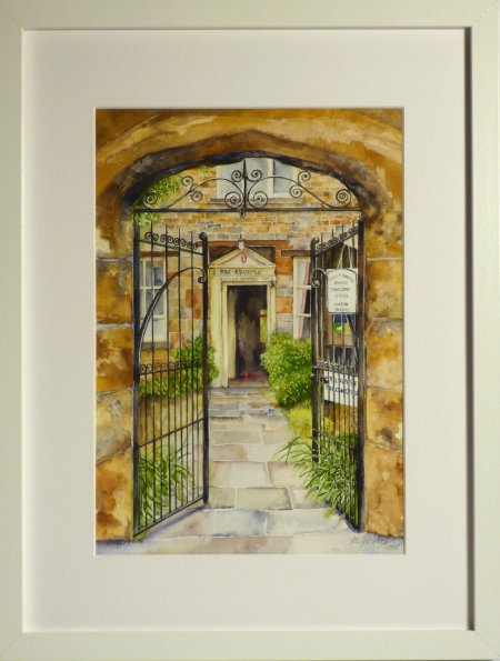 Chantry House Towcester by Val Goldfinch - original watercolour paintings on dislay at Vitreus Art