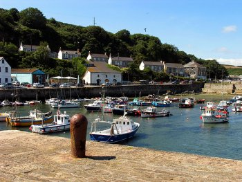 The harbour at Porthleven, Cornwall