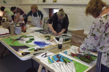 Cornwall 5-day workshop is suitable for beginners and those with stained glass experience