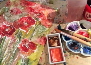 learn to use bold colours in watercolour