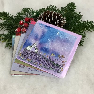 Christmas cards from paintings by Jane Warwick